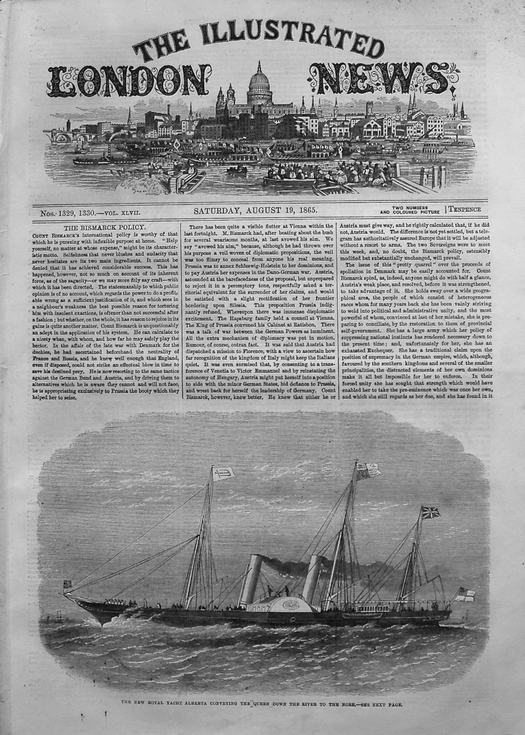 Illustrated London News August 19th 1865.