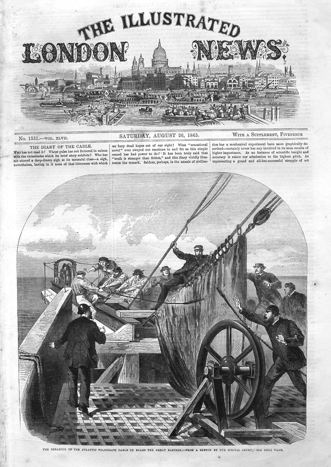 Illustrated London News August 26th 1865