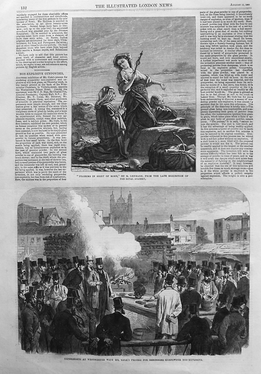 Experiments at westminster with Mr. Gale's Process for Rendering Gunpowder