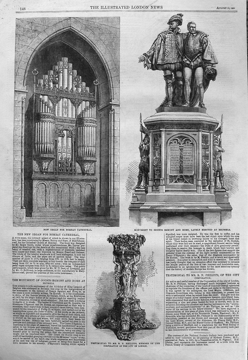 New Organ for Bombay Cathedral. 1865