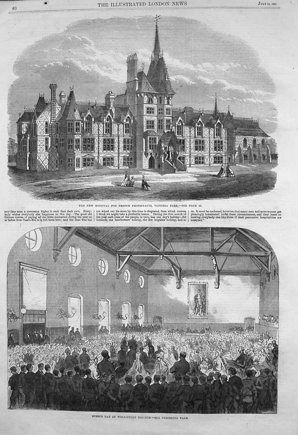 The New Hospital for French Protestants, Victoria Park.