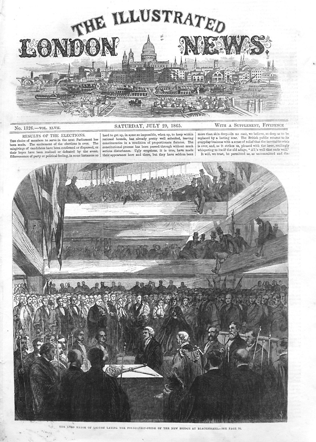 Illustrated London News July 29th 1865.