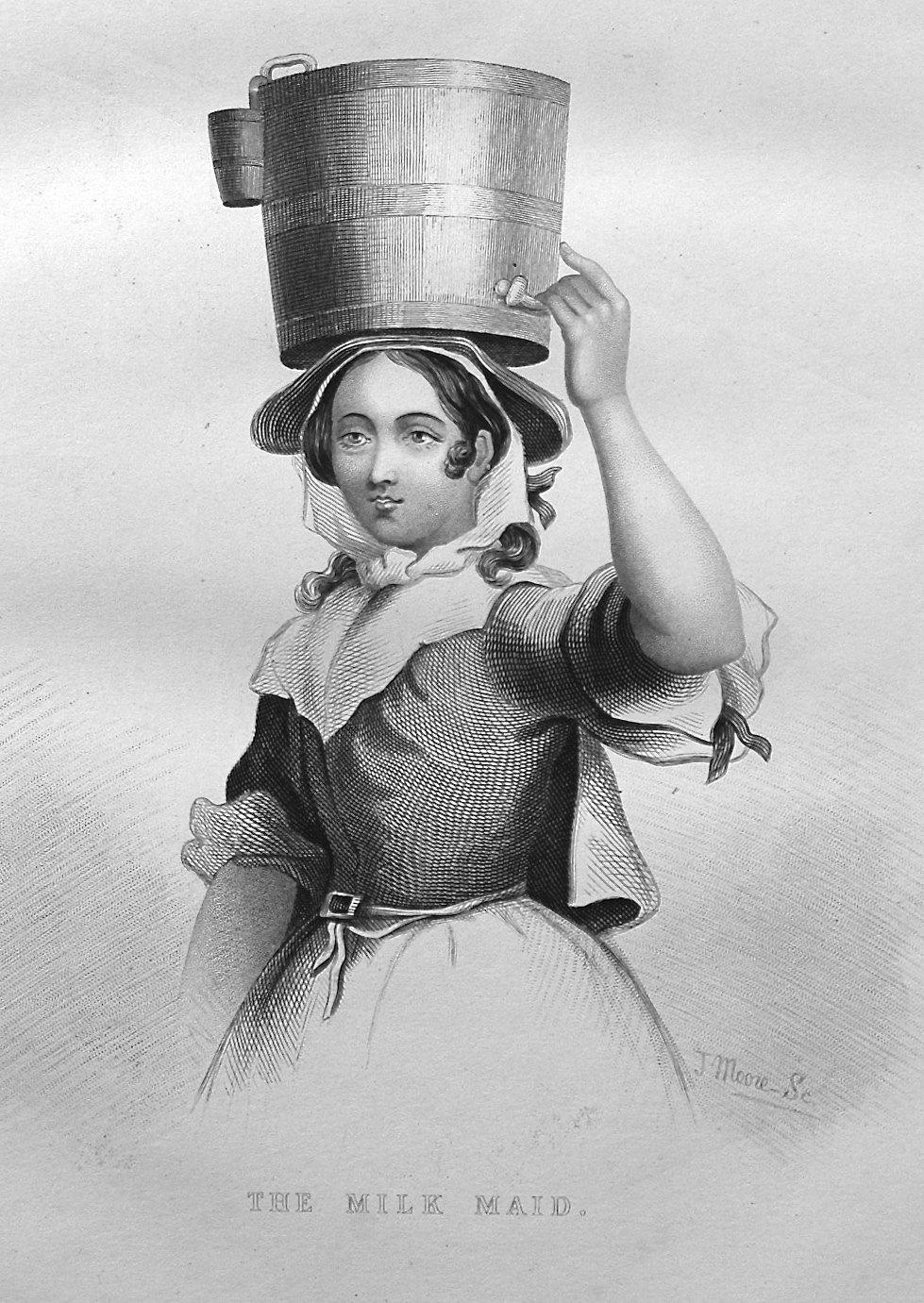 The Milk Maid. 1890