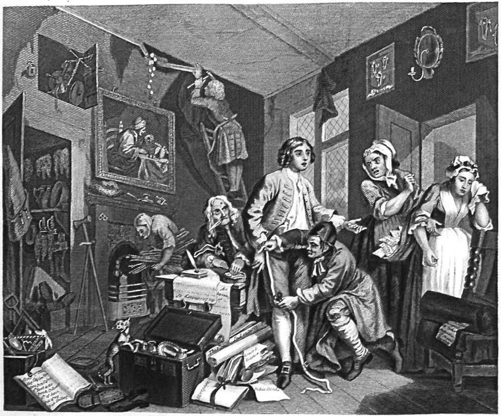 The Rake's Progress. Plate 1. The Young Heir Takes Possession of the Miser'