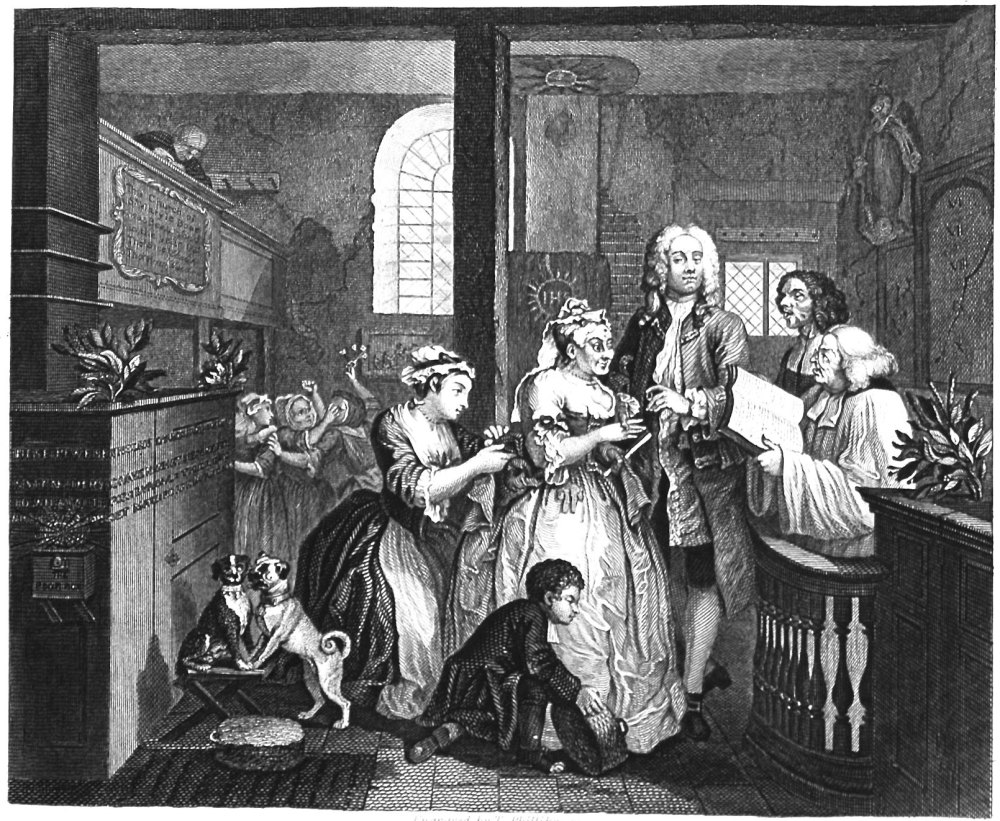 The Rake's Progress. Plate 6. Marries an Old Maid.