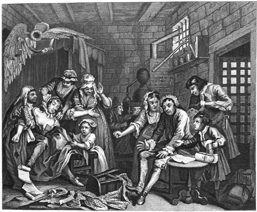 The Rake's Progress. Plate 7. Prison Scene.