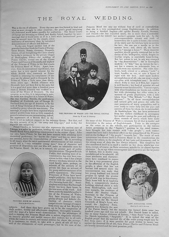 The Royal Wedding. 1896