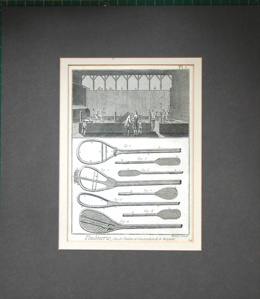 Paulmerie, Jeu de Paulme et Construction de la Raquette. Plate 1.