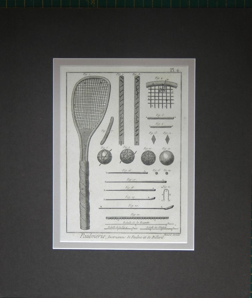 Paulmerie, Instrumens de Paulme et de Billard. Plate 4.