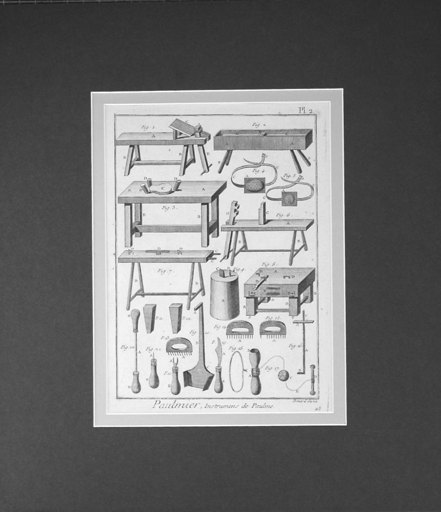 Paulmier, Instrumens de Paulme. Plate 2.