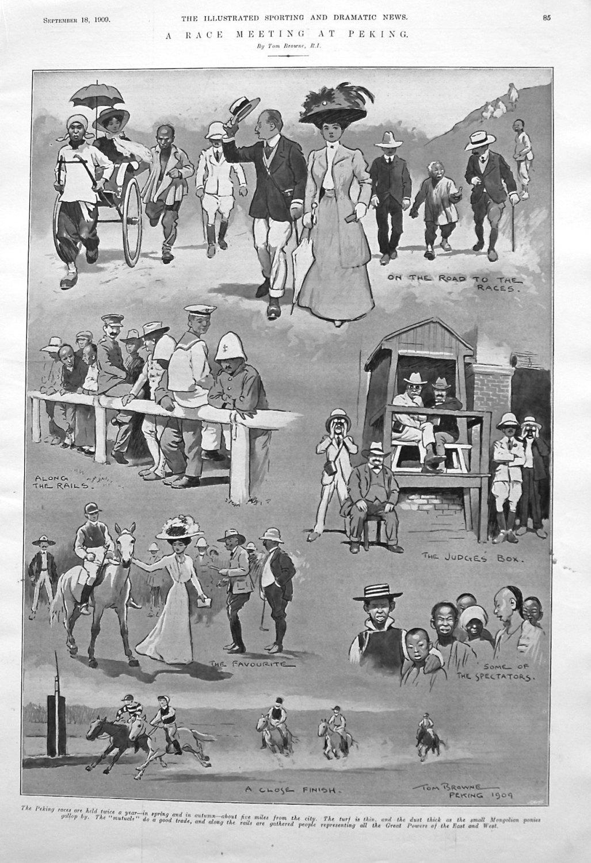 A Race Meeting in Peking. 1909
