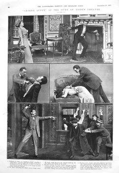 """""""Arsene Lupin,"""" at the Duke of York's Theatre. 1909"""