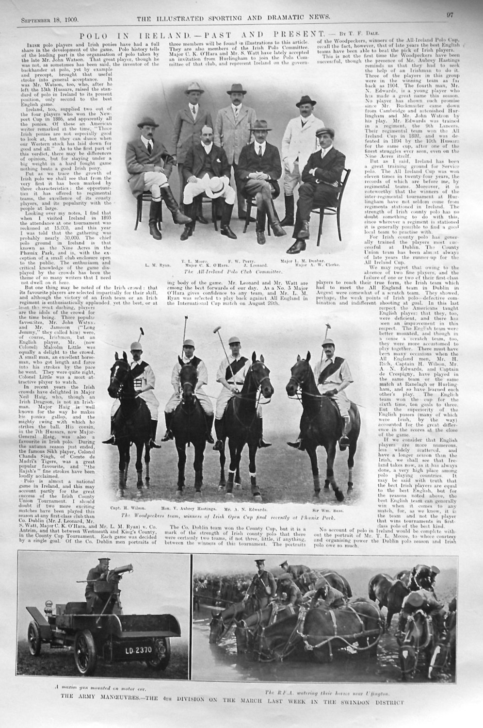 Polo in Ireland. - Past and Present. - By T.F. Dale. 1909