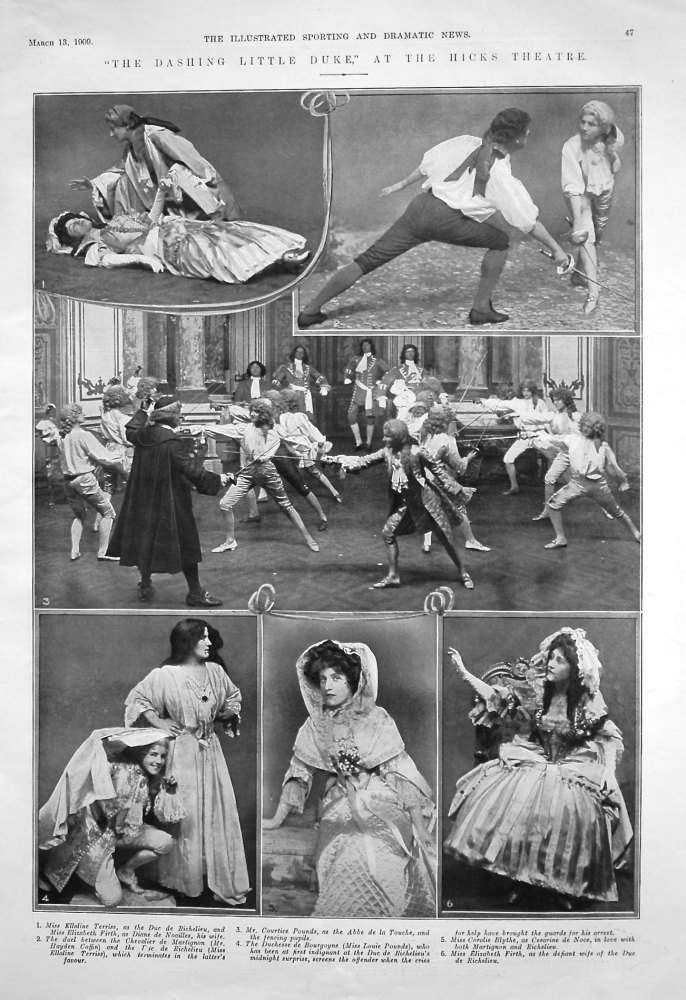 """""""The Dashing Little Duke,"""" at the Hicks Theatre. 1909"""