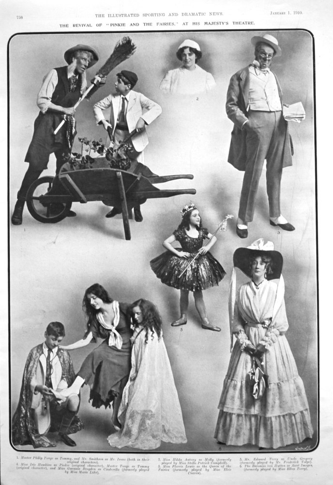 """The Revival of """"Pinkie and the Fairies,"""" at His Majesty's Theatre. 1910"""