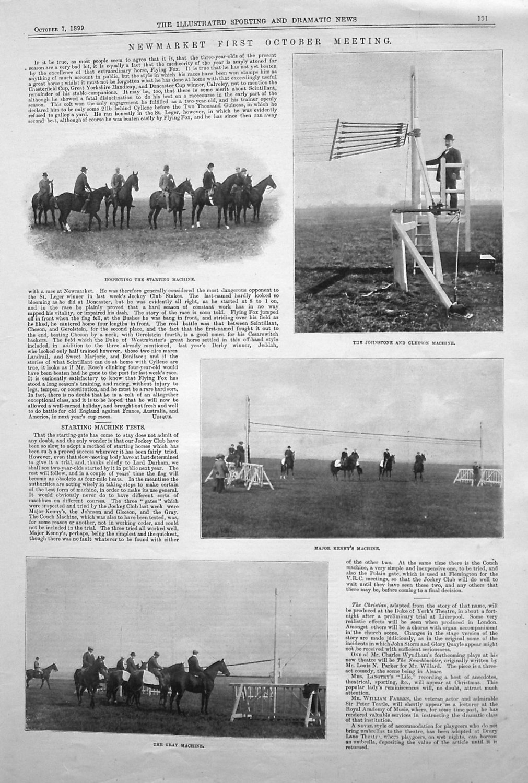Newmarket First October Meeting. 1899