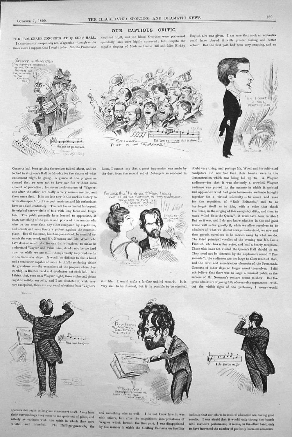 Our Captious Critic October 7th 1899