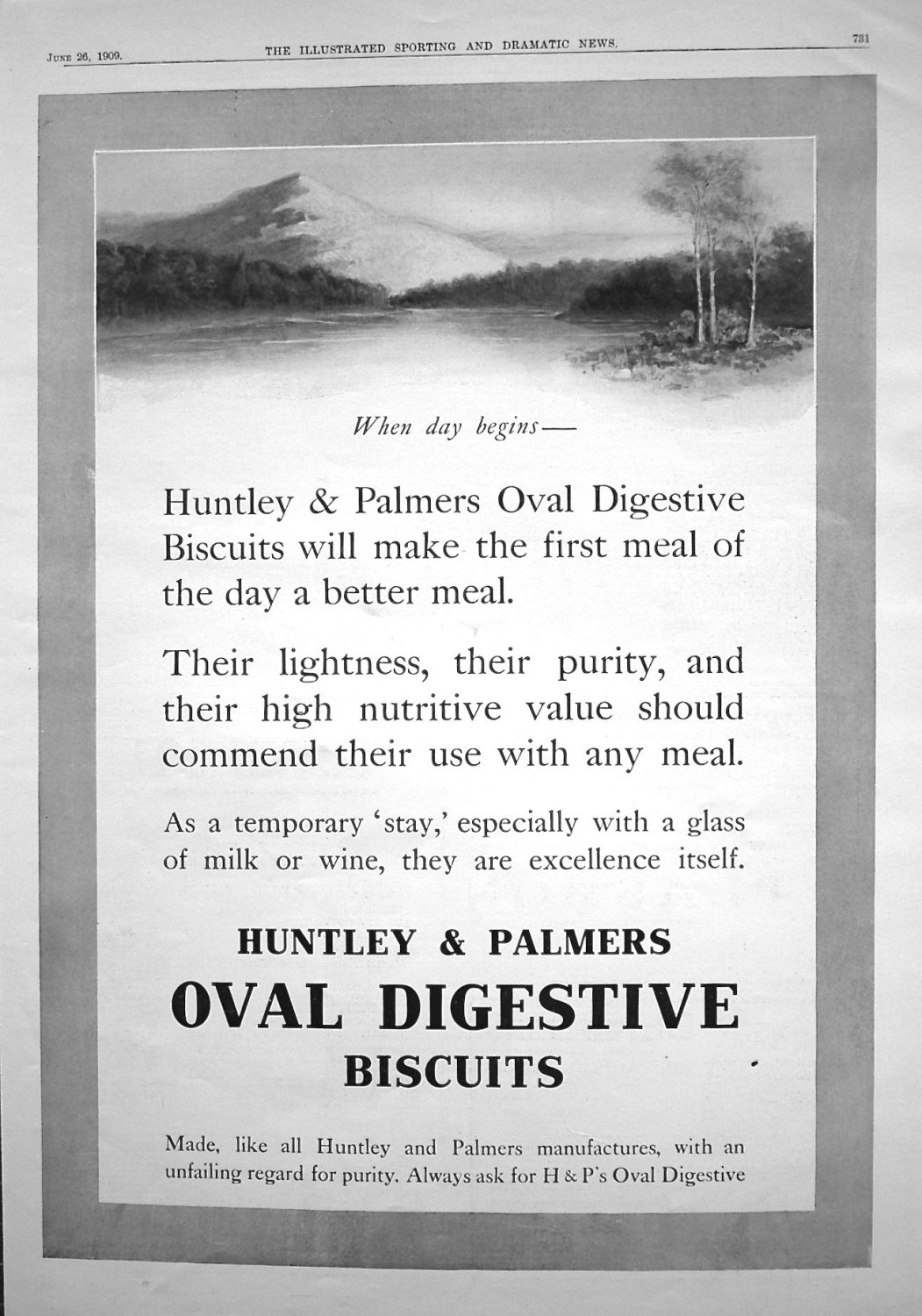 Huntley & Palmers. 1909