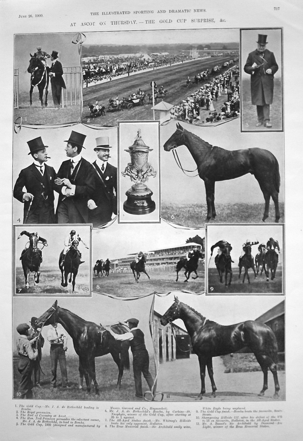 At Ascot on Thursday. - A Gold Cup Surprise, & c. 1909