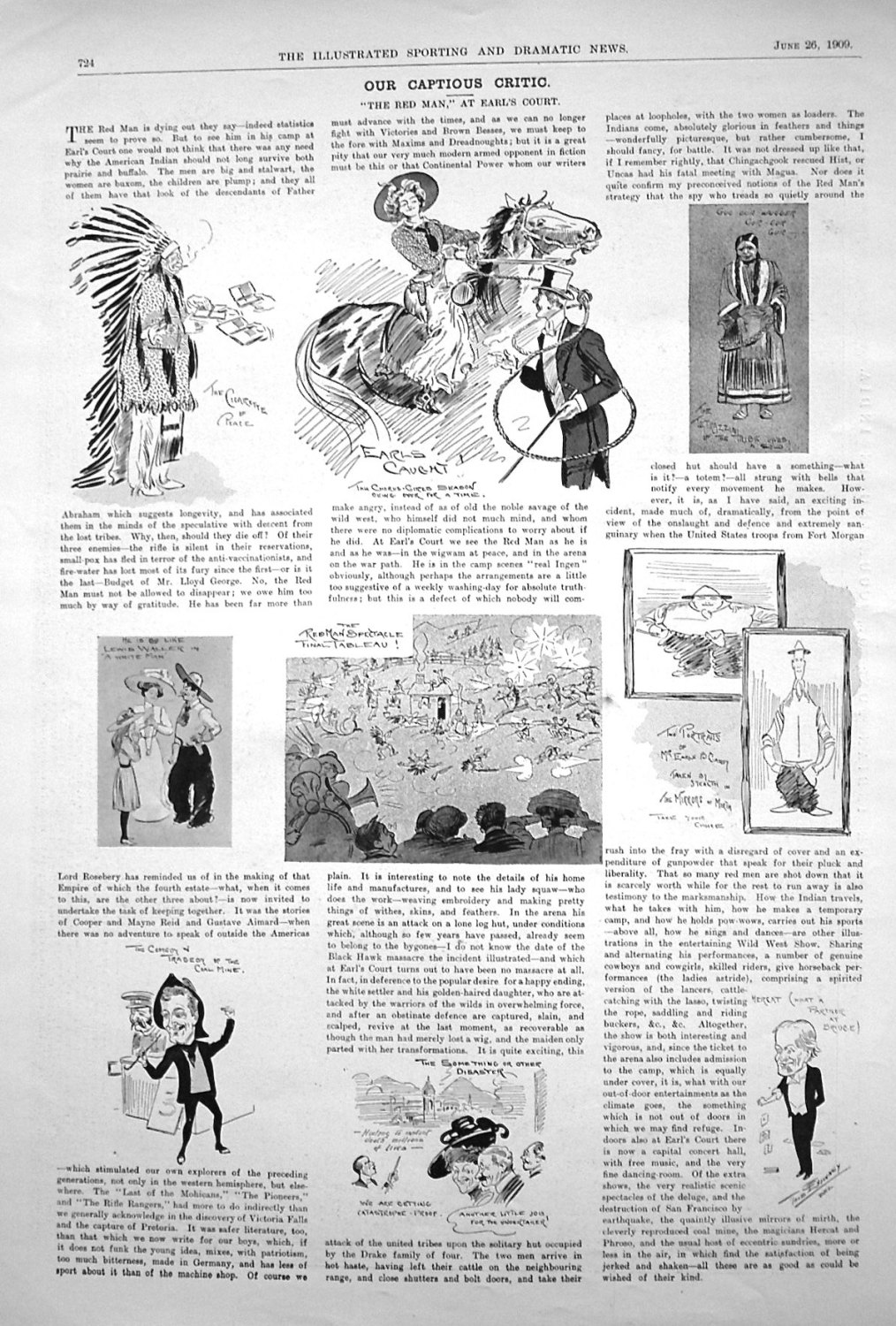 Our Captious Critic. June 26th 1909.