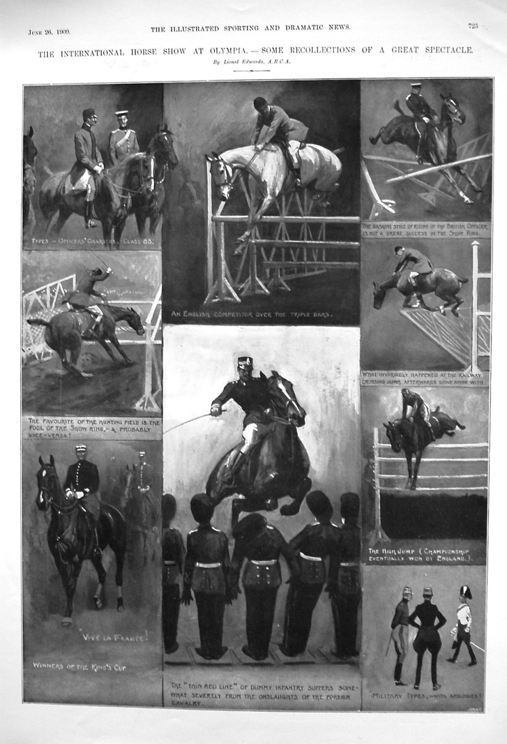 The International Horse Show at Olympia. - Some Recollections of a Great Sp