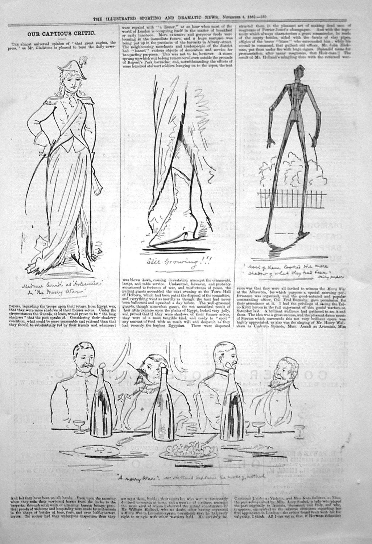Our Captious Critic. November 4th 1882.
