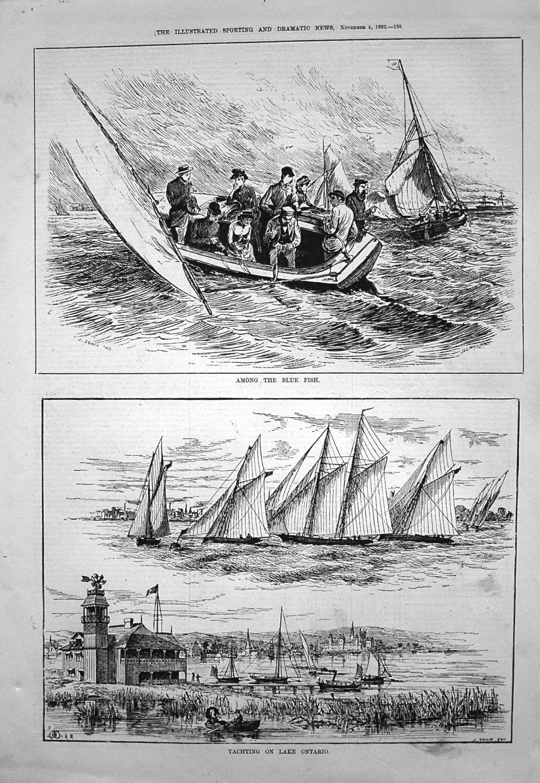 Yachting on Lake Ontario. 1882