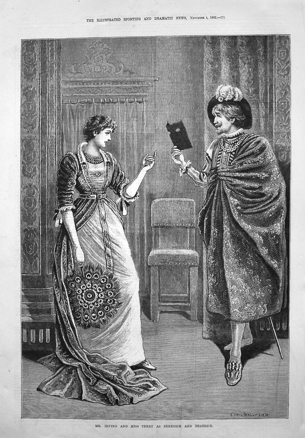 Mr. Irving and Miss Terry as Benedick and Beatrice. 1882
