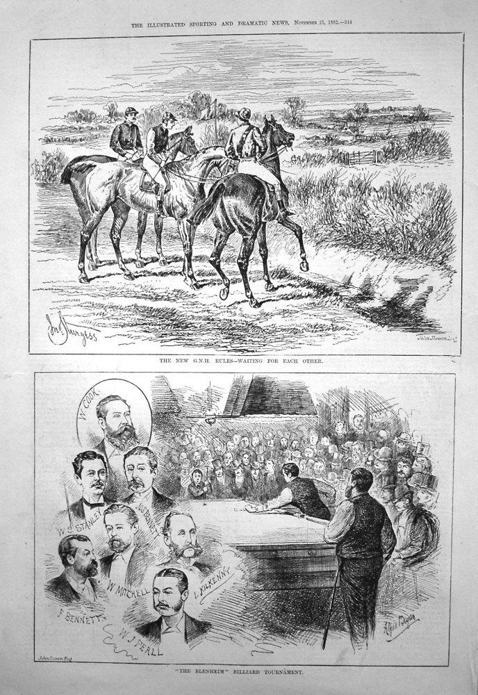 """""""The Blenheim"""" Billiard Tournament. 1882."""