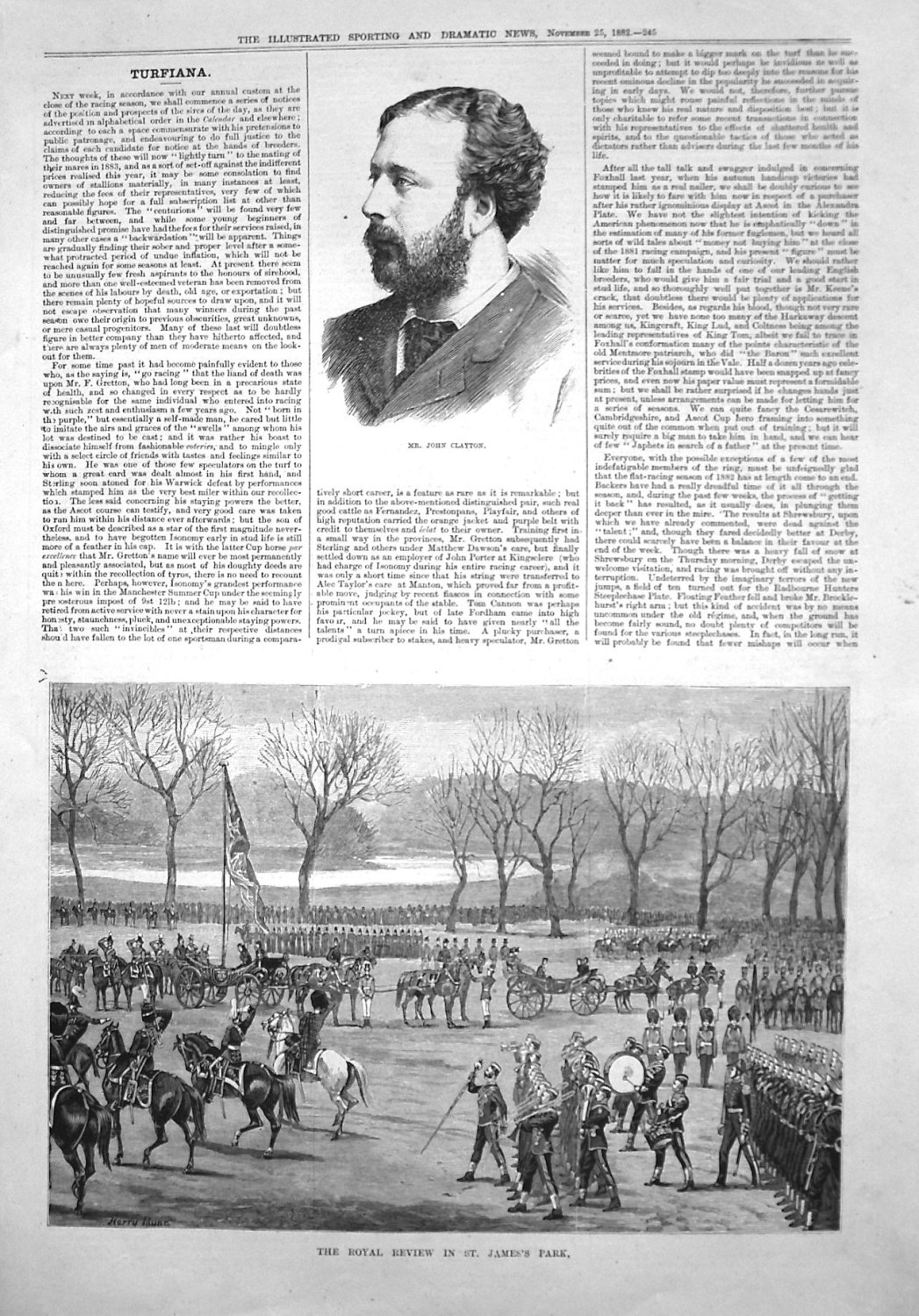 The Royal Review in St. James's Park. 1882