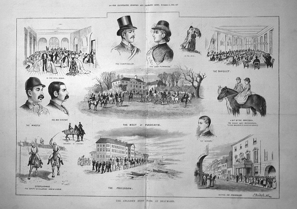 The Anglesey Hunt Week at Beaumaris. 1882