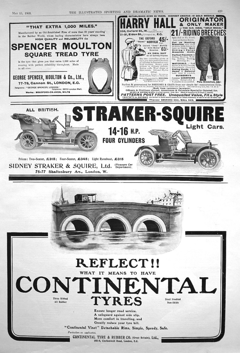 Adverts. Illustrated Sporting and Dramatic News May 15th 1909.