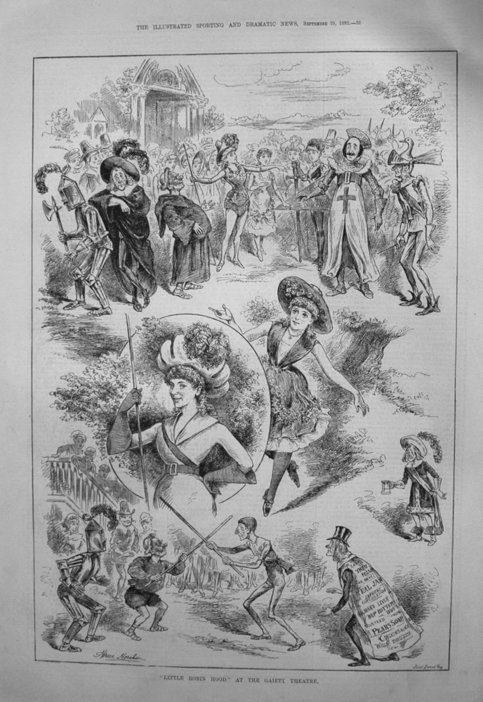 """""""Little Robin Hood"""" at the Gaiety Theatre. 1882"""