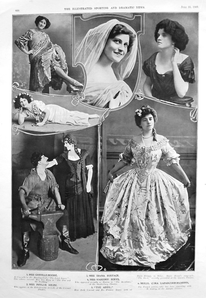 Actresses from the Stage July 1909.