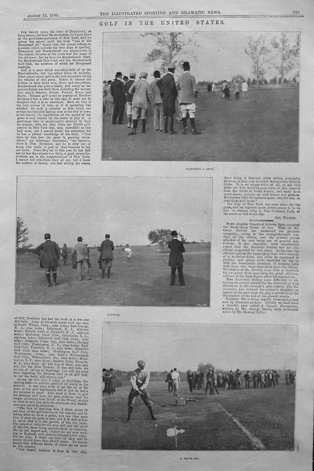 Golf in the United States. 1899