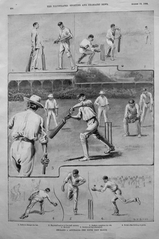 England v. Australia - The Fifth Test Match. 1899