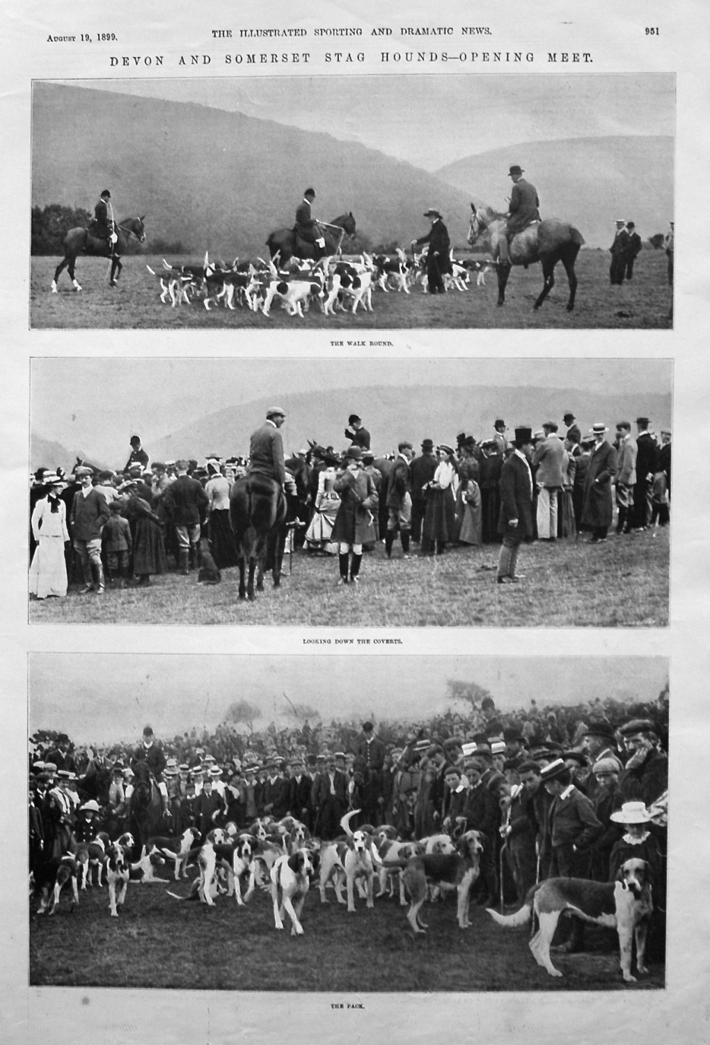 Devon and Somerset Stag Hounds - Opening Meet. 1899
