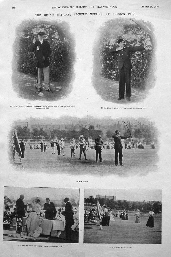 Grand National Archery Meeting at Preston Park. 1899