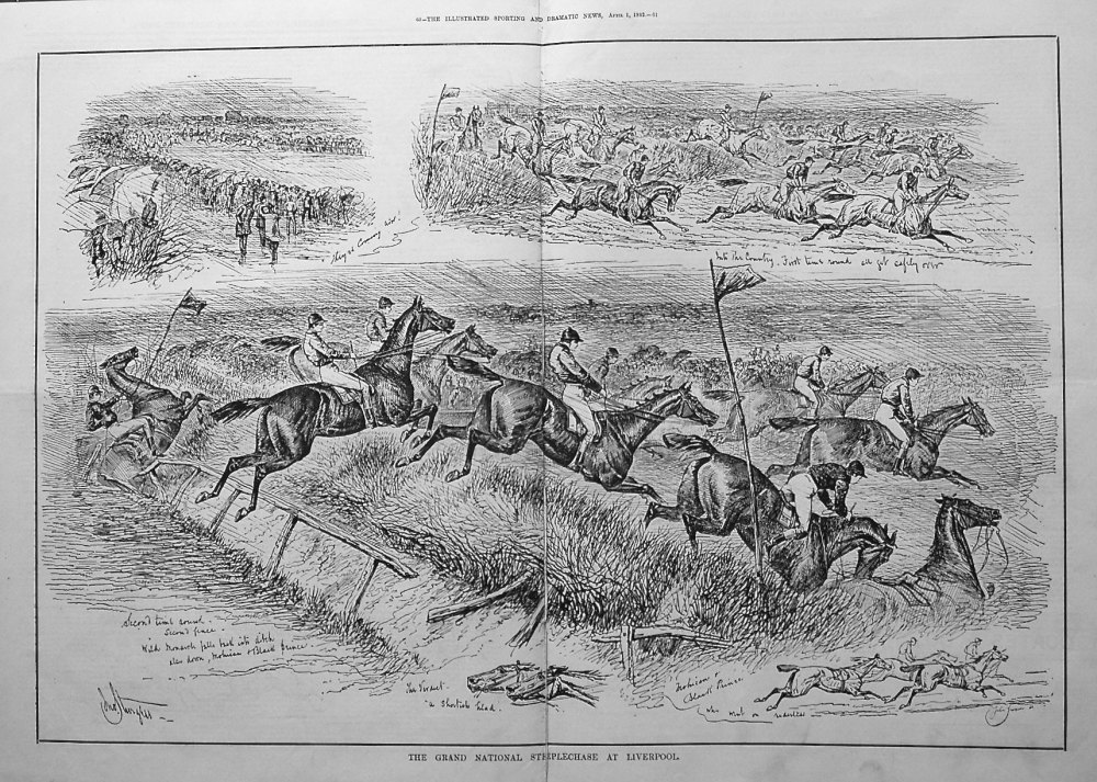 The Grand National Steeplechase at Liverpool. 1882