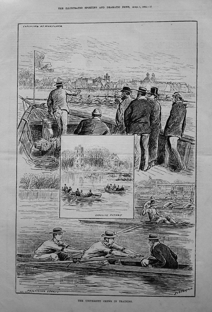 The University Crews in Training. 1882