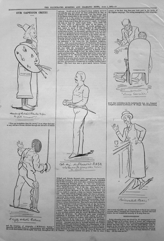 Our Captious Critic. April 1st 1882.