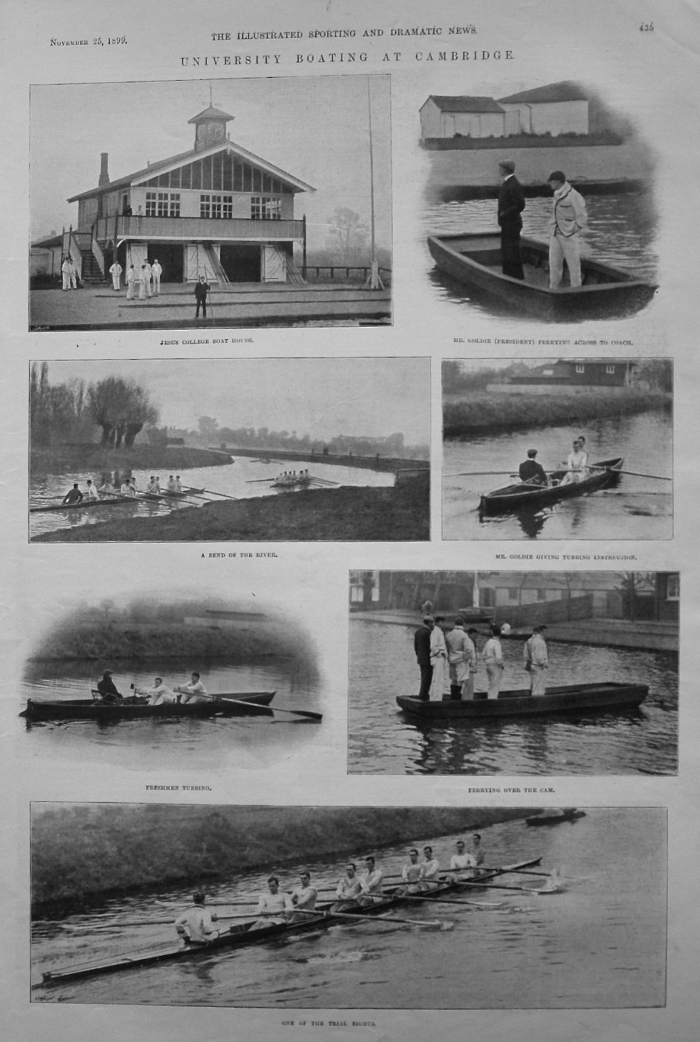 University Boating at Cambridge. 1899
