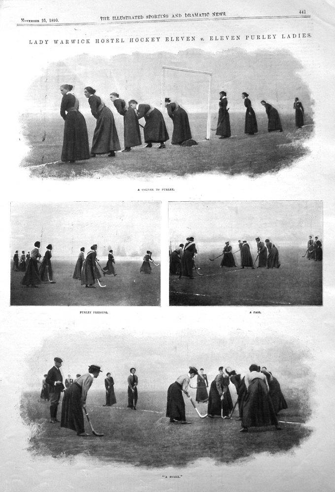 Lady Warwick Hostel Hockey Eleven v. Eleven Purley Ladies. 1899.
