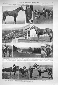 """""""Glorious Goodwood."""" - Rain spoils the First Day. 1909"""