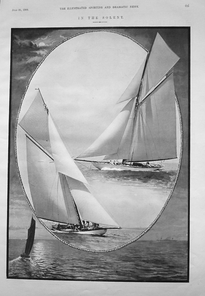 """""""In the Solent."""" 1909"""
