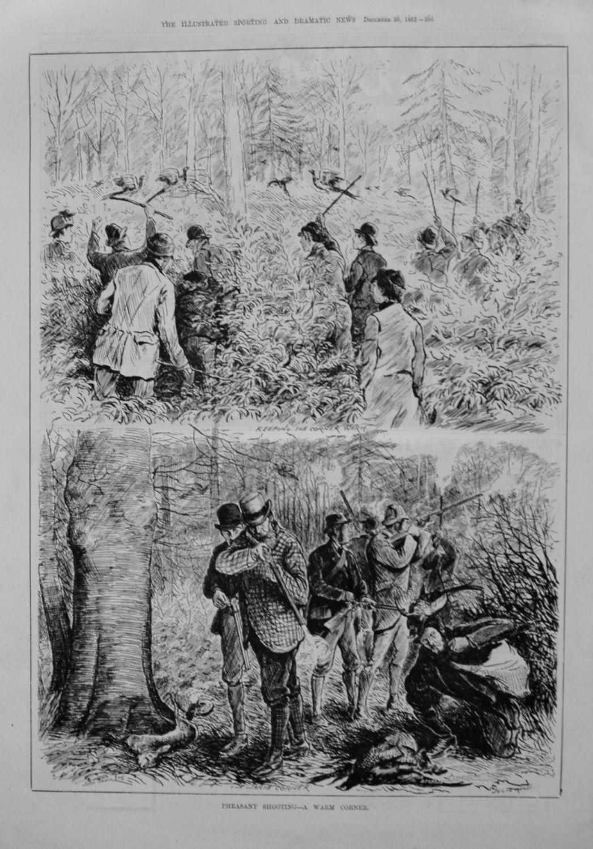 Pheasant Shooting - A Warm Corner. 1882