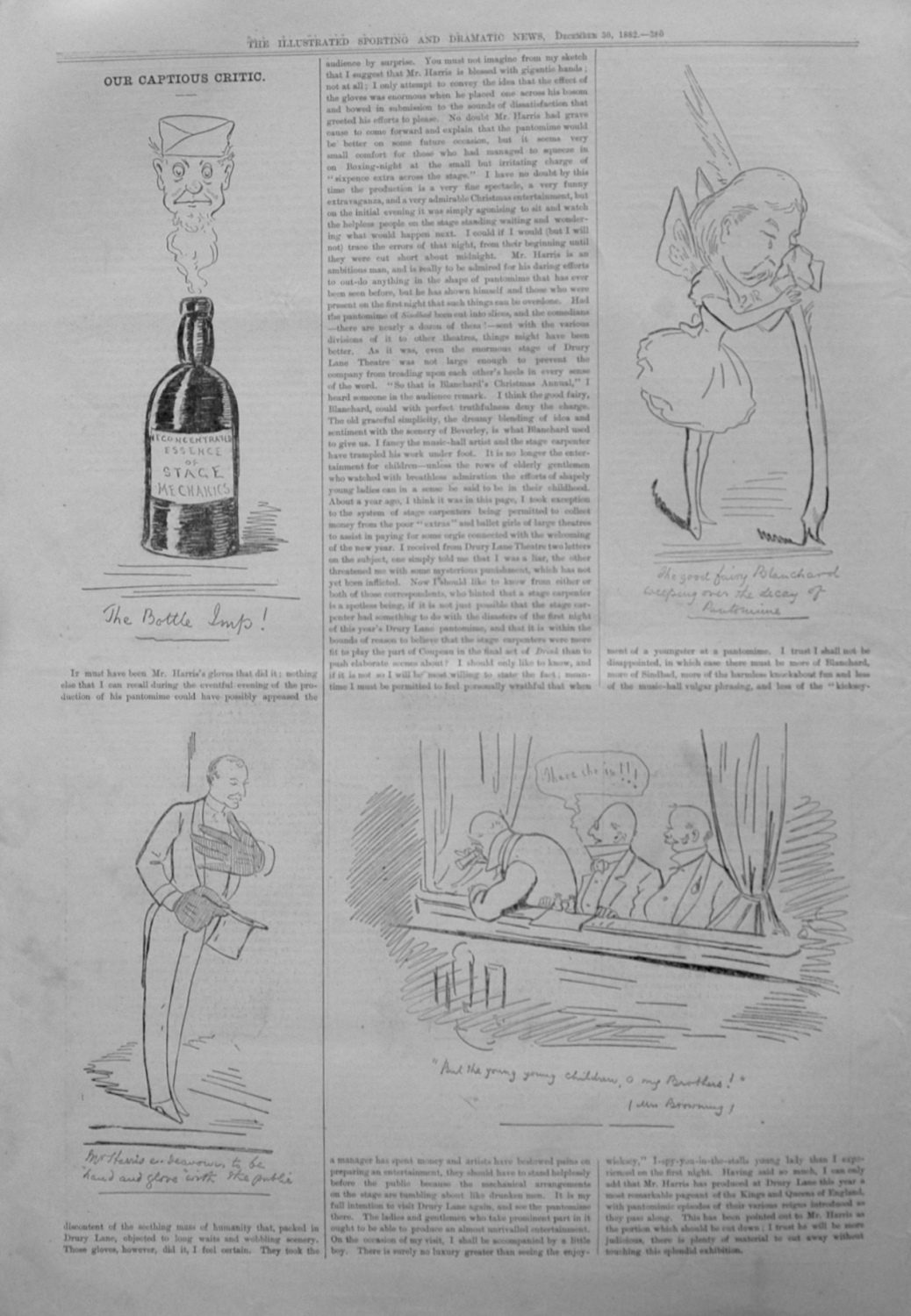 Our Captious Critic. December 30th 1882.
