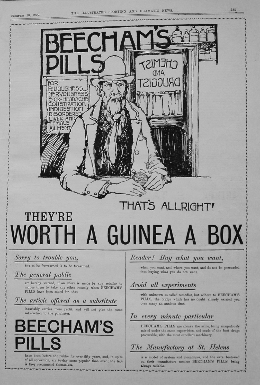 Beecham's Pills. February 1900.
