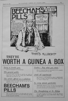 Beecham's Pills. February 1900.