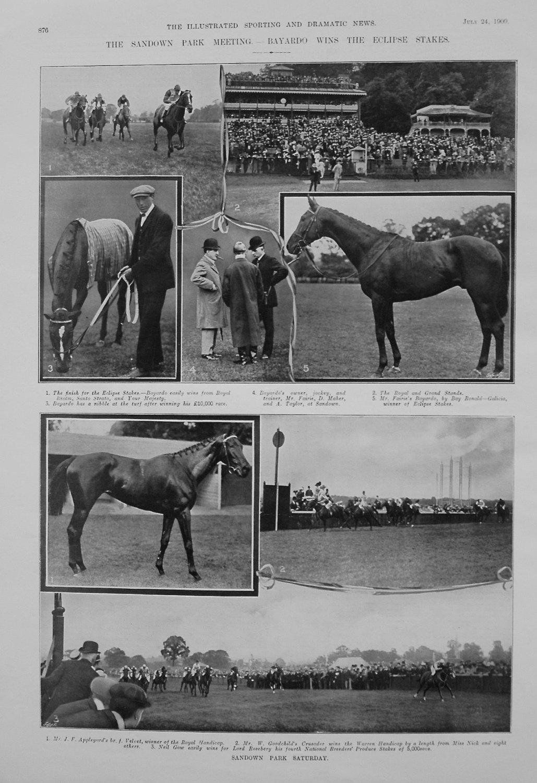 The Sandown Park Meeting. - Bayardo wins the Eclipse Stakes. 1909